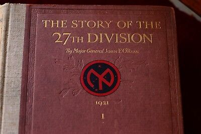 Vintage The Story Of The 27Th Division ~ O'ryans Roughnecks New York Ww 1 Signed