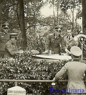 **RARE: Japanese General HIROSHI OSHIMA & Wehrmacht Officers at Conference!!!**