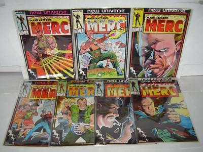 Mark Hazzard: Merc #1 - #6 + Annual #1 - Marvel's New Universe - Unread Nm/m