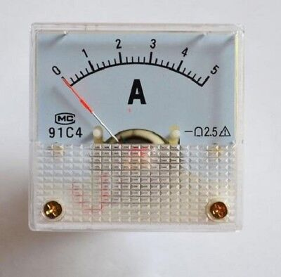 New Arrival 0~5A DC Analog Current 91C4 Amp Ammeter Amp Meter Panel