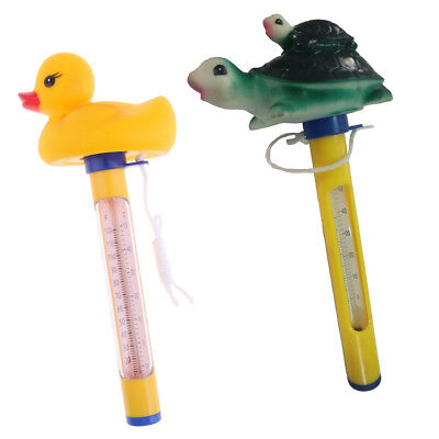 2x Pool&Spas Thermometer Floating Swimming Water Temperature with Rope