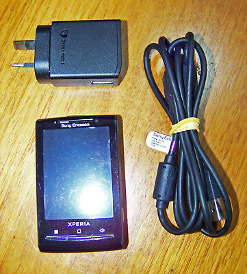 SONY Ericsson Xperia Mini E10i - Used works well w/2gb Micro SD & Charge cable