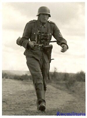 Port. Photo: TOUGH Looking Wehrmacht M.G.34 Machine Gunned on the Run; Russia!!!