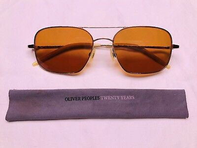 d22194be59 AUTHENTIC Oliver Peoples Victory 55 Sunglasses Gold   Cognac VFX Burn Notice