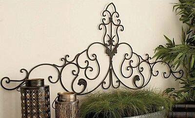 Vintage Scrollwork Wall Art Sculpture ~ French Victorian ~ Antique Bronze Finish