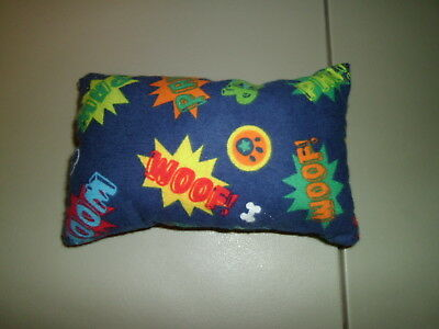 1-WOOF! Dog Paws & Dog Bone Mini Size Pillow for eReader or Book New & Handmade!