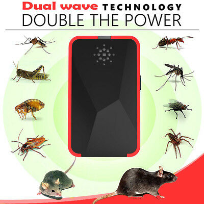 Electronic Ultrasonic Pest Reject Mosquito Cockroach Mouse Killer Repeller ksJ8