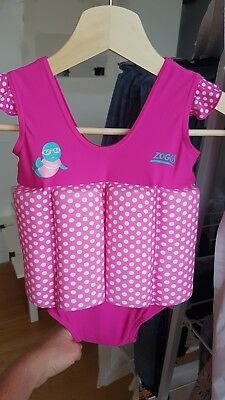 Zogg Swimsuit float pink bathers size 1-2