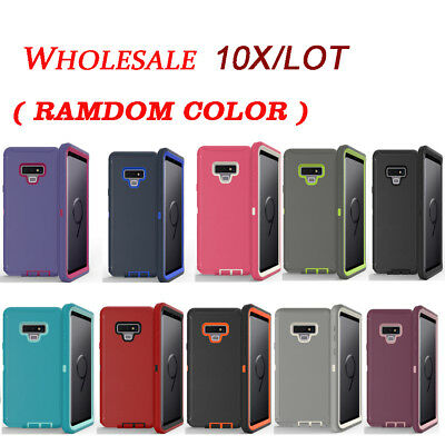Wholesale 10X / Lot Shockproof Defender Case with Clip For Samsung Galaxy Note 9