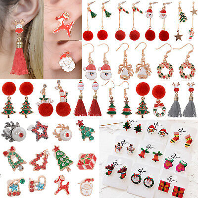 Fashion Women Christmas Ear Stud Drop Dangle Earrings New Year Gift Jewelry
