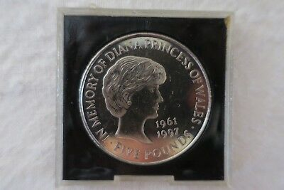 Diana Princess Of Wales Five Pounds Coin + 2 50C Coins
