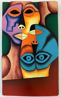Folk Art Oswaldo Guayasamin  Handmade Painting Sculptures Art  Wall Sculpture