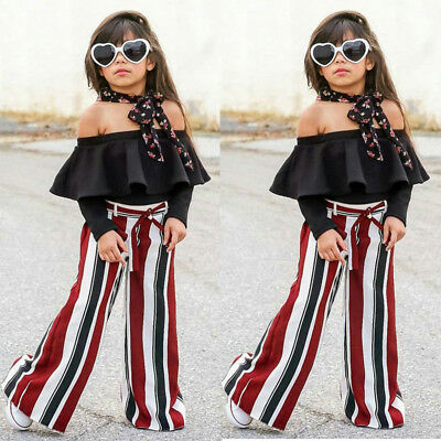 2pcs Newborn Toddler Infant Baby Girl Clothes Long Sleeve Tops+Pants Outfits Set