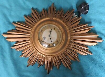 Smiths Sectric Sunburst wall clock