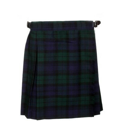 New Girls Black Watch Tartan Scottish Kilt, Available for Ages 2 - 14 Years