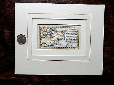 1759 Gibson Miniature Map Kent England UK Old Antique County Map 11x6cms SCARCE