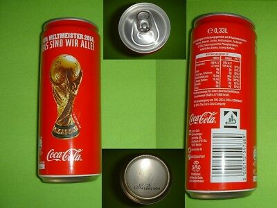 Coca Cola Fifa Weltmeister 2014 Pokal Berlin Dose/Can Voll/Full never open RARE