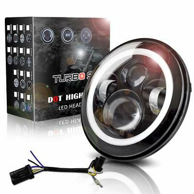 """7"""" Motorcycle Led Round Headlight For Harley Softail Springer"""
