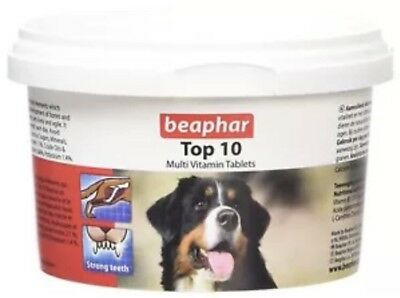 Beaphar Top 10 Dog MultiVitamin Tablets  (180 Tablets)