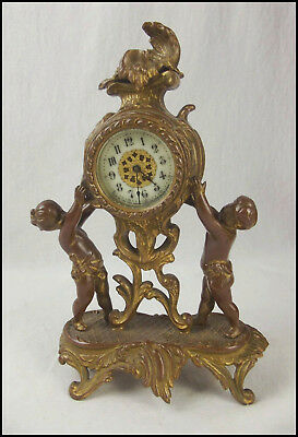 Victorian Ornamental Cherub Clock