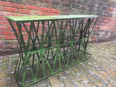 Metal Table Long Table Beautifully Aged Lovely Item !