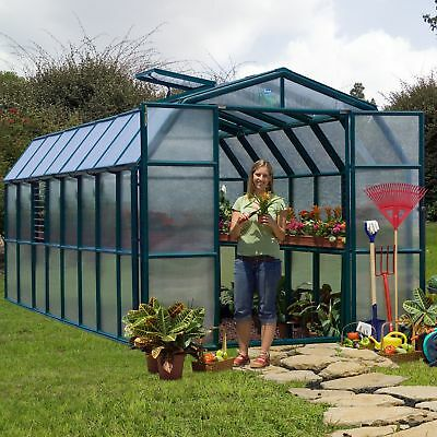 Rion Greenhouses Prestige 2 Twin Wall 8 Ft. W x 16 Ft. D Greenhouse