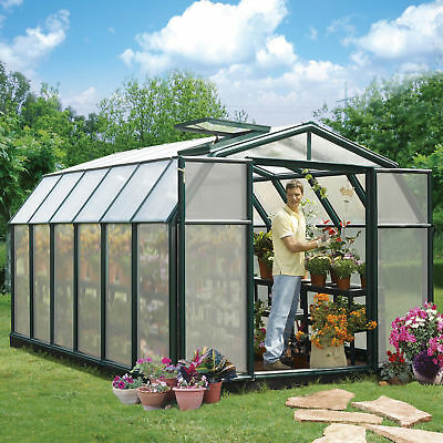 Rion Greenhouses Hobby Gardener 2 Twin Wall 8 Ft. W x 12 Ft. D Greenhouse
