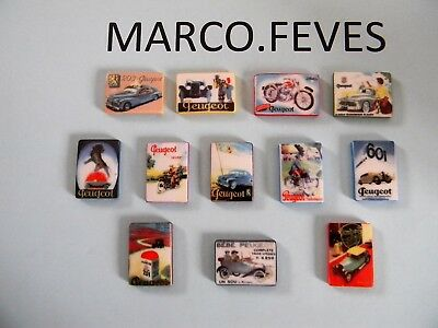 SERIE COMPLETE : PLAQUES EMAILLEES PEUGEOT  2015 ( Bte Q )