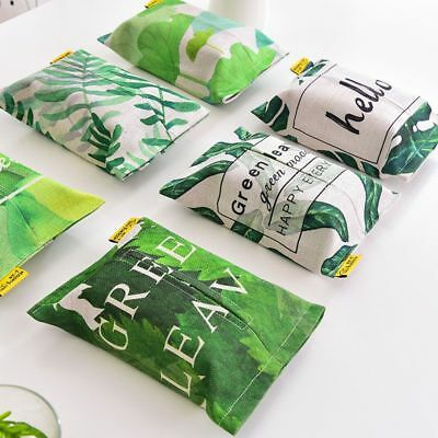 Napkins Container Tropical Themed Print Tissue Paper Organizer Pouches Accessory