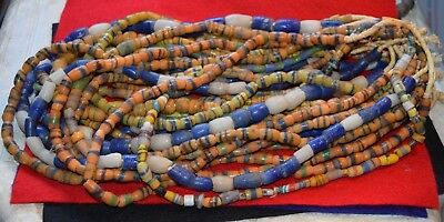 16 strands of vintage African made glass beads