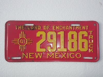 1941 New Mexico Truck License Plate NOS