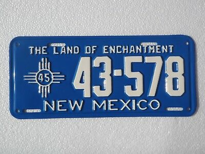 1945 New Mexico License Plate