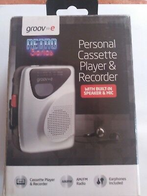 Groove personal cassette player and recorder. Retro series.