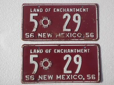 1956 New Mexico License Plates (Pair)