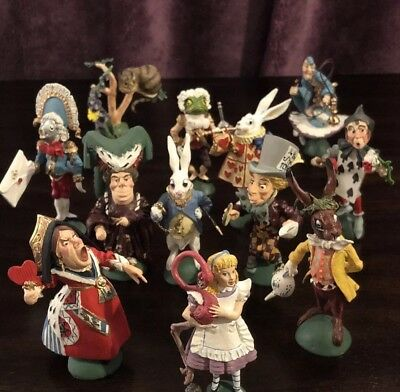 The Hamilton Collection Alice In Wonderland Figurines - Set Of 12 *mint*