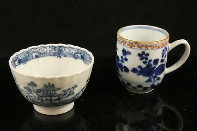 Chinese Blue & White Tea Bowl & Cup
