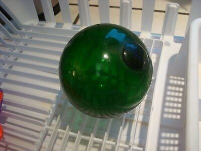 """Brilliant Emerald Green Vintage Fishing Float About 4"""" Diameter"""