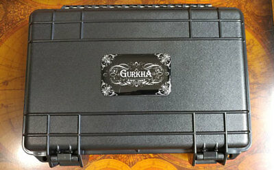 Gurkha Travel Cigar Case Humidor Black Holds up to 5