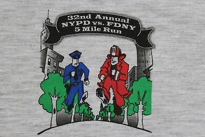 NYPD FDNY Central Park 5 mile run 2013 XXL gray t shirt 2 available