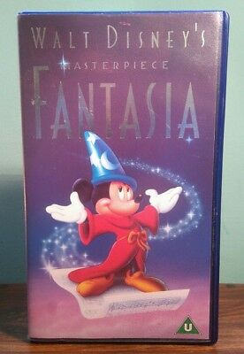 Walt Disney's Masterpiece Fantasia COLLECTORS VHS PAL UK EU Video Cassette Tape