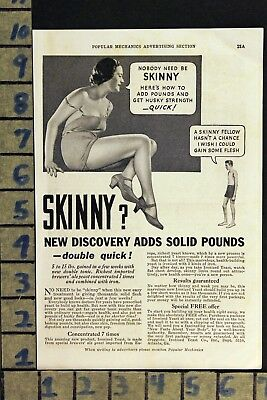 1934 Ironized Yeast Weight Gain Diet Fad Medical Cure Health Vintage Ad  Zd61