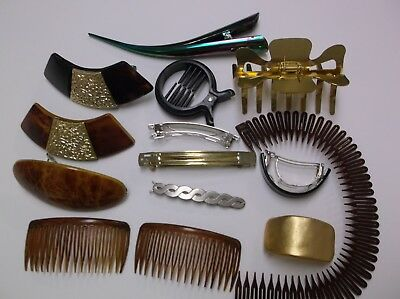 VTG  Grpup Of  Hair Clips Verity Cips Combs 70's