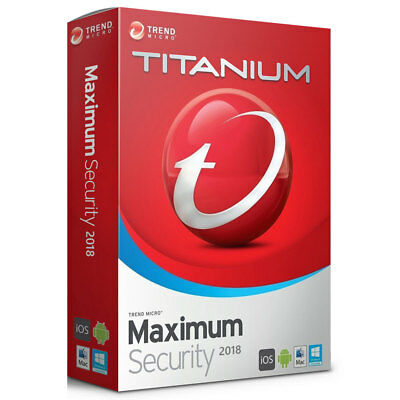 Trend Micro Maximum Security 12 2018 1, 3, 5 Device 1, 2, 3 Year Global Keys