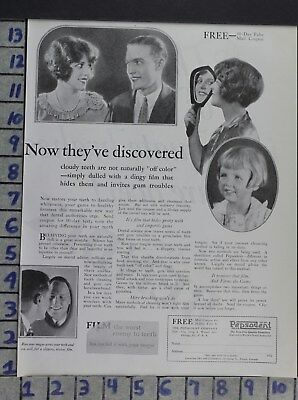 1926 Dentistry Medical Pepsodent Toothpaste Health Beauty Vintage Ad Dv08