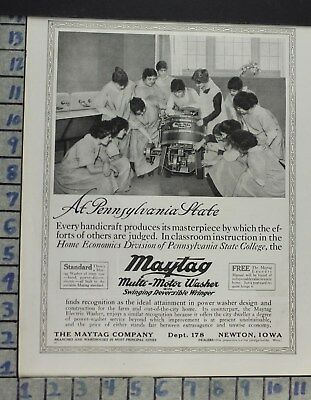 1917 Home Decor Laundry Room Maytag Motor Washer Penn State College Ad Cp12