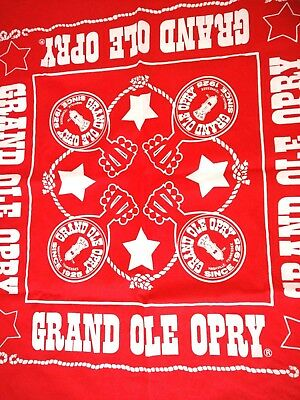 Grand Ole Opry RED BANDANA Country Music WSM Nashville Tennessee Microphone Star