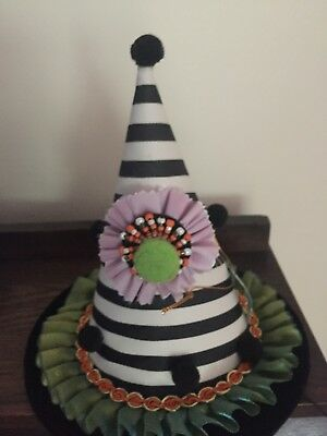 Katherine's Collection Fall Halloween Witch Clown  HAT- 28-628125 NEW