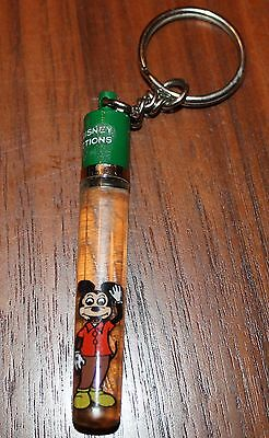 Rare Disney Mickey Mouse Floating Keychain Walt Disney Productions