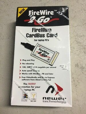 Newer Technology FireWire 2 Go CardBus Card (New!j