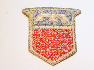 A   WW 2 U S Army 76th Division  O D Backing Cut Edge White Back Patch
